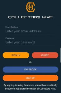 How to use the Universal Barcode Scanner by Collectors Hive App_signin