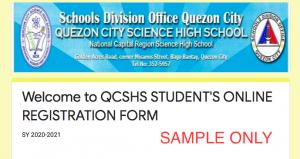 DepEd Online Learner Enrollment and Survey Form