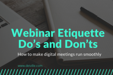 Webinar Etiquette Do's and Don'ts