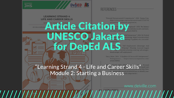 Daryll_Villena_Article Citation by UNESCO Jakarta for DepEd ALS