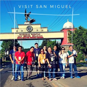 bloggers at the heritage and culinary tour in San Miguel Bulacan